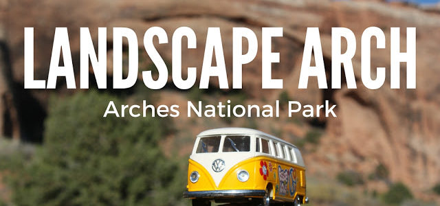 Hiking Landscape Arch in Arches National Park