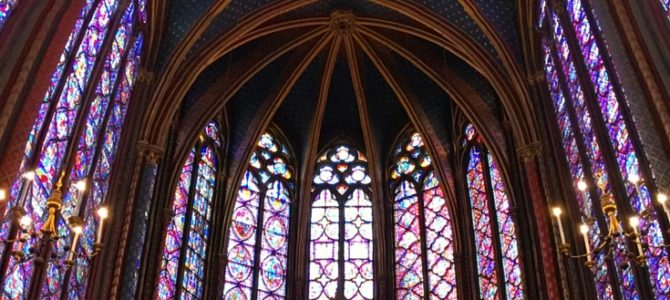 Visiting Sainte Chapelle in Paris
