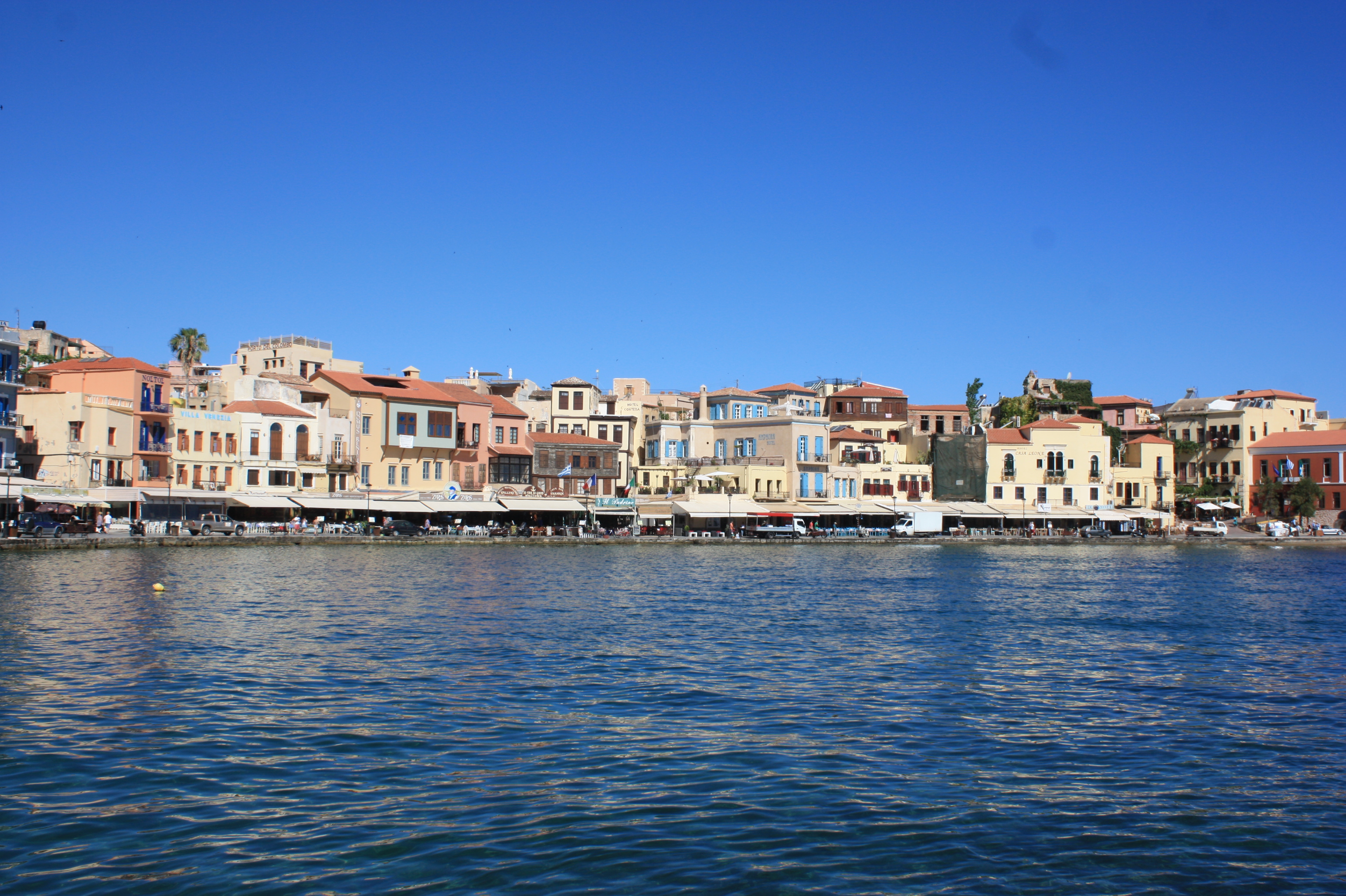 Venetian Harbor in Chania, Greece