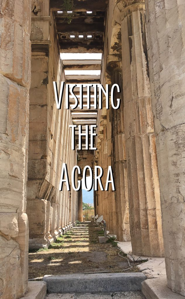 Title card showing columns in the Agora