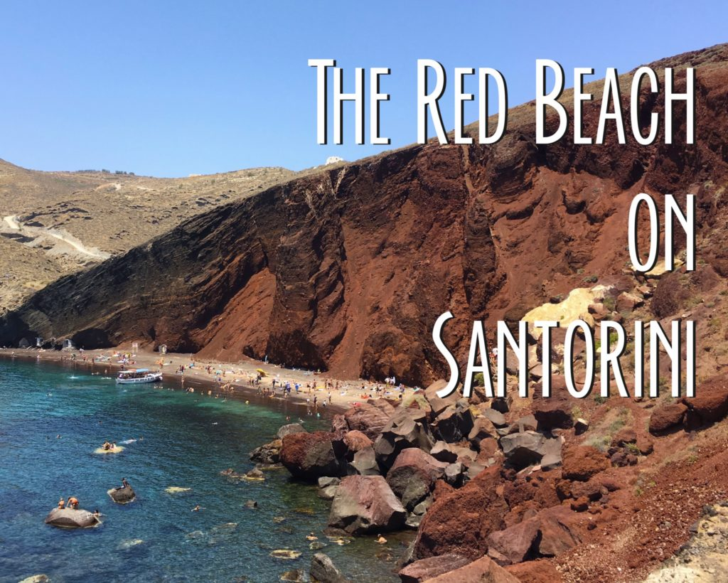 the title card showing the red beach from the trail
