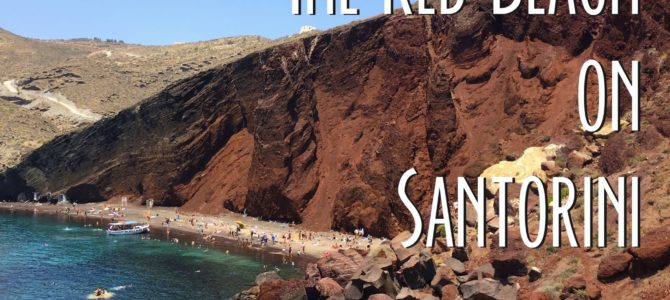 Visit the Red Beach on Santorini