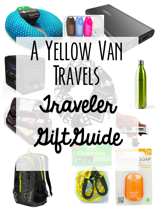 A yellow van travels travel gift guide