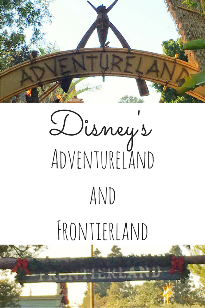 Adventure land and Frontierland at Disneyland