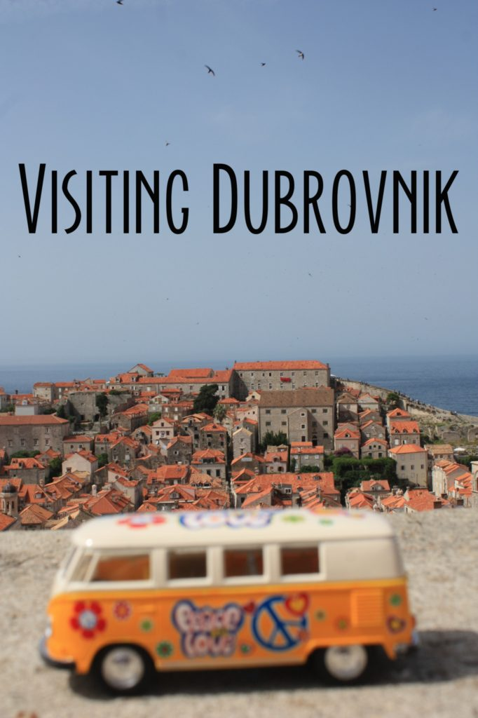 The yellow van at Dubrovnik