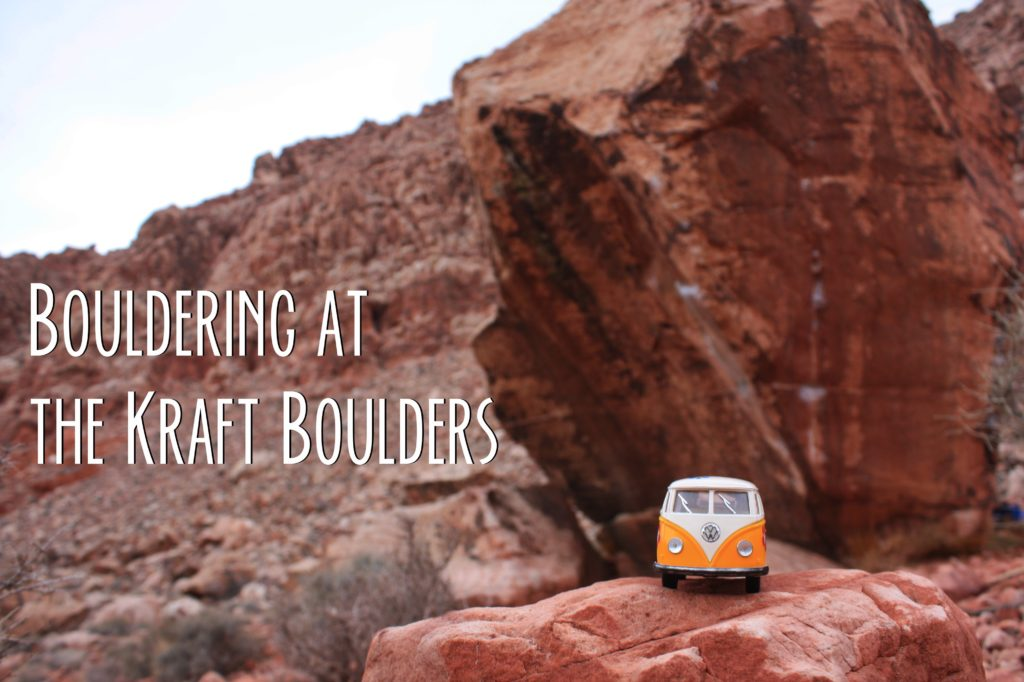 Kraft Boulders Title Card with Yellow Van