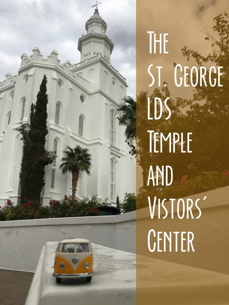 Title card showing the yellow van in front of the St. George Temple.