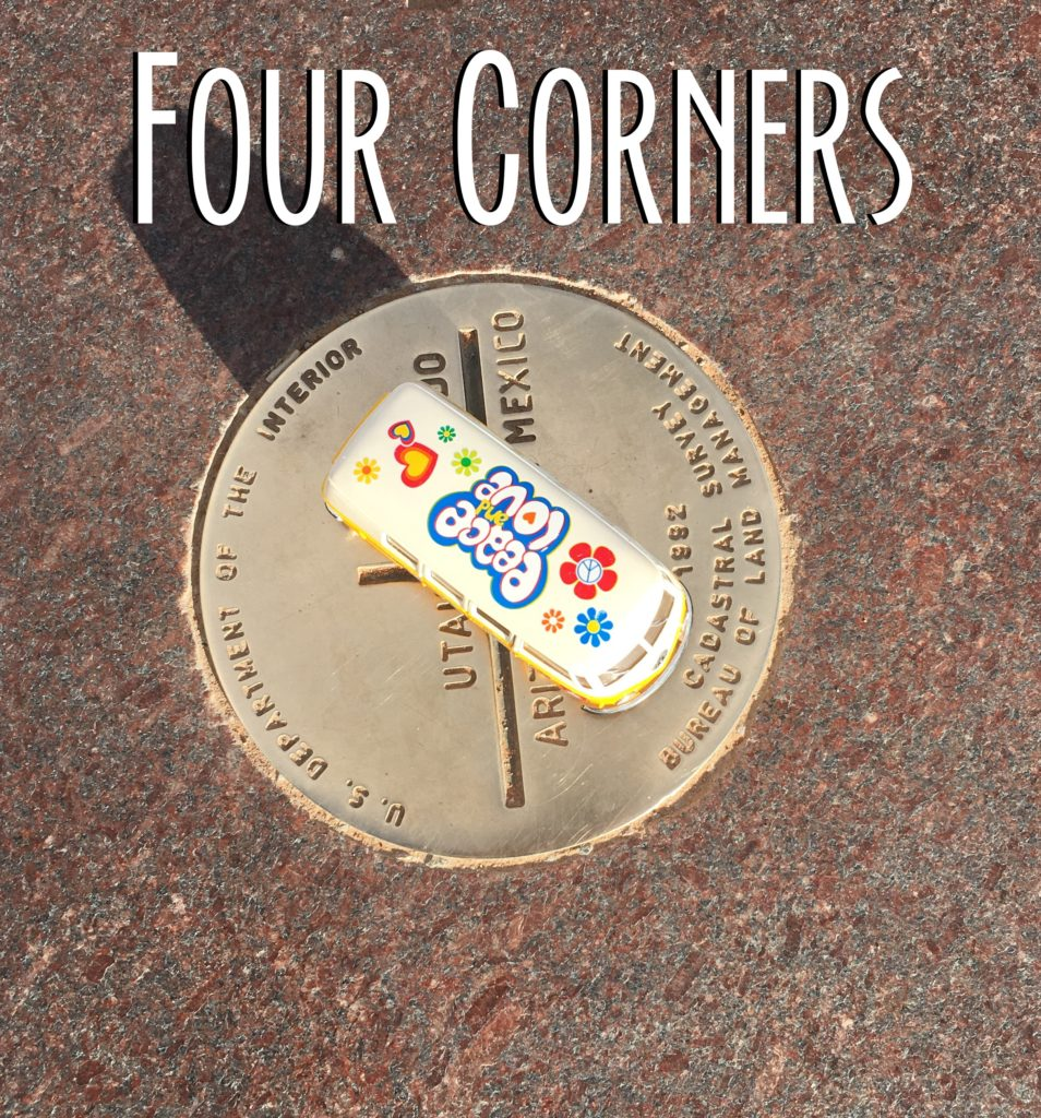 The Yellow Van on the Four Corners