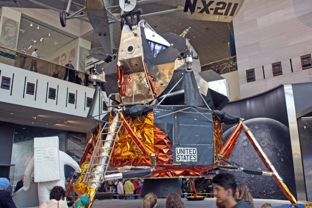 the Lunar Module at the National Air and Space Museum