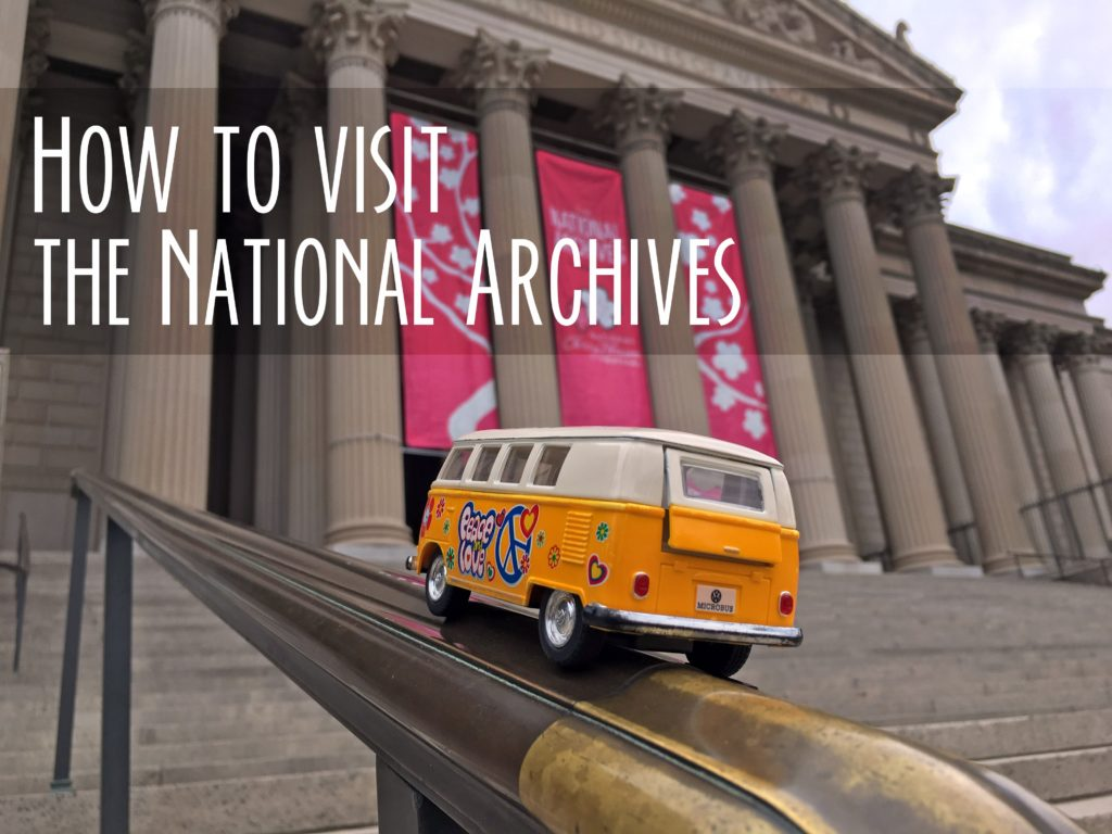 Yellow Van outside National Archives