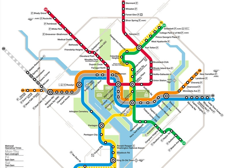 Map of the D.C. Metro
