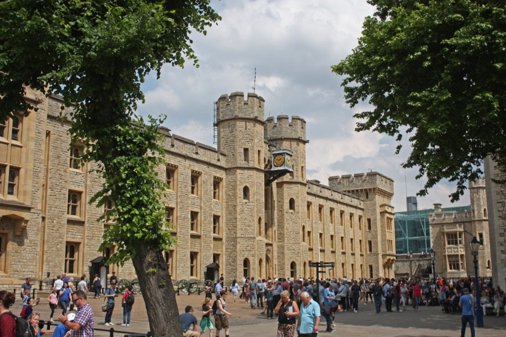 The Crown Jewels house at the tower of London