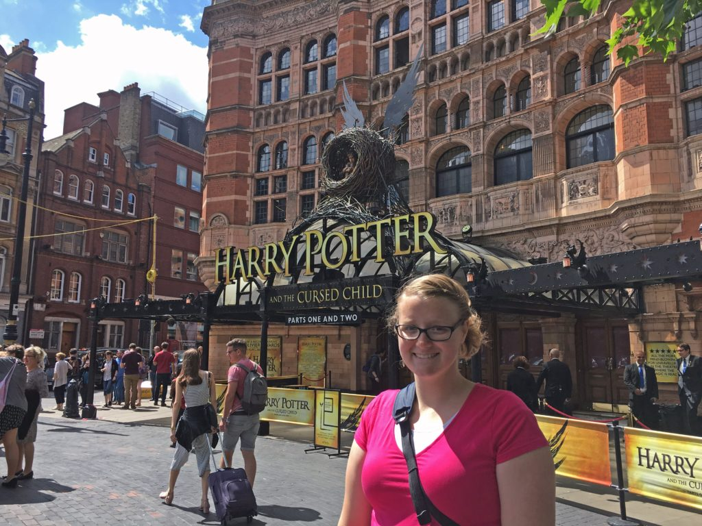 Meagan with the Harry Potter and the Cursed Child Sign