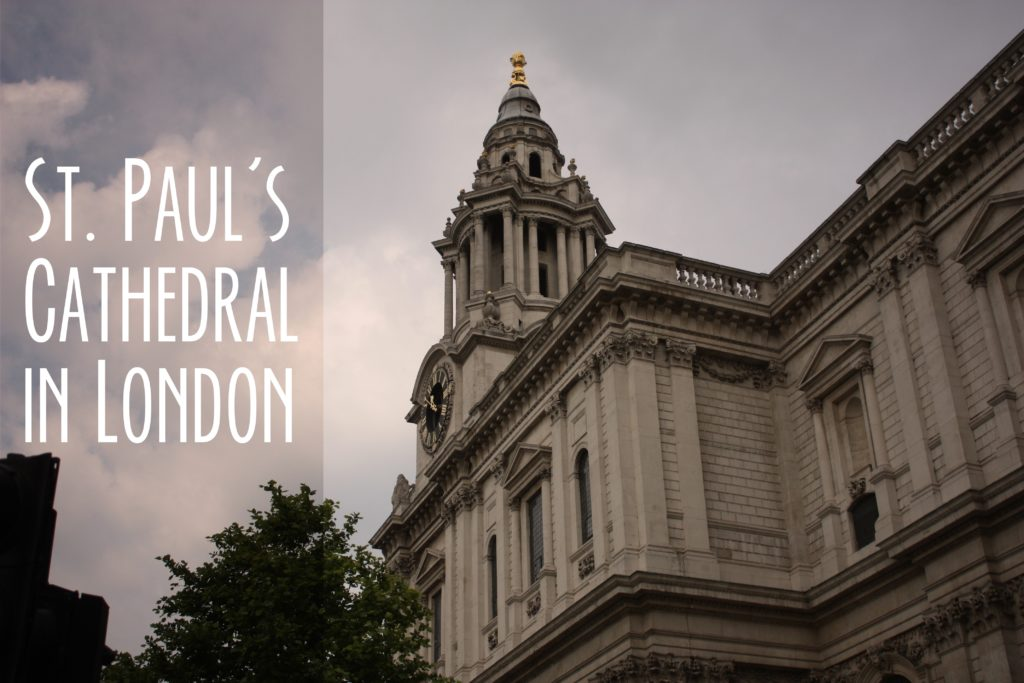 Title card showing the outside of St. Paul's Cathedral in London