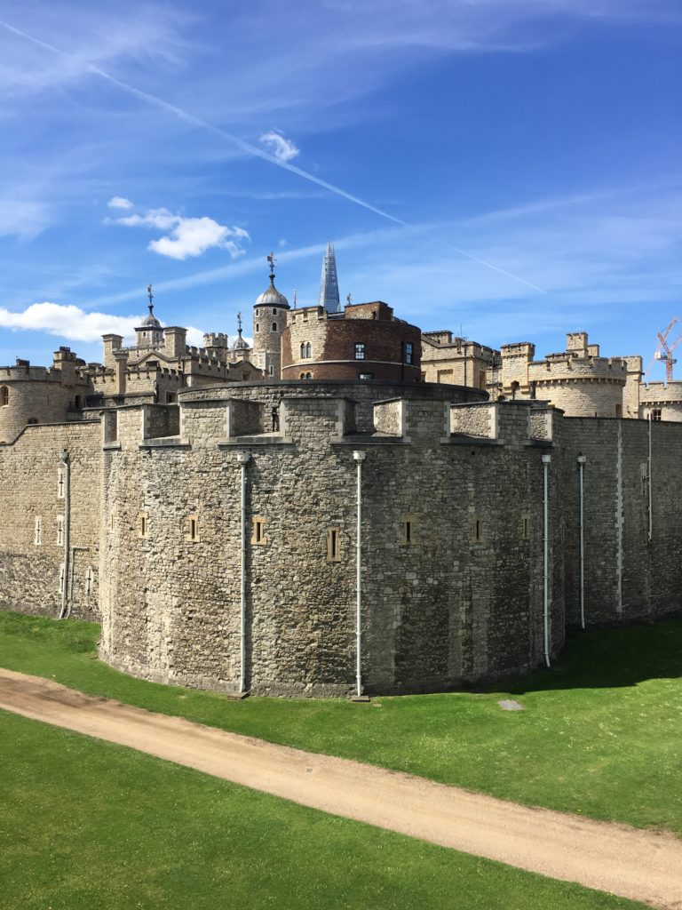 Outside wall of the Tower of London