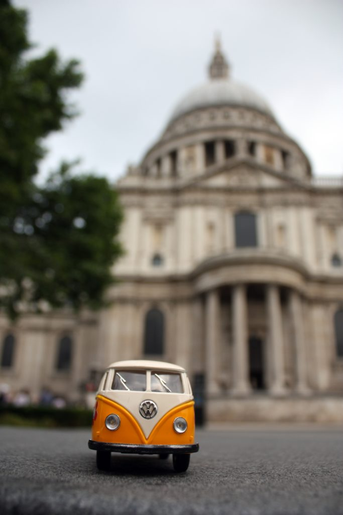 The Yellow Van outside St. Paul's Cathedral in London