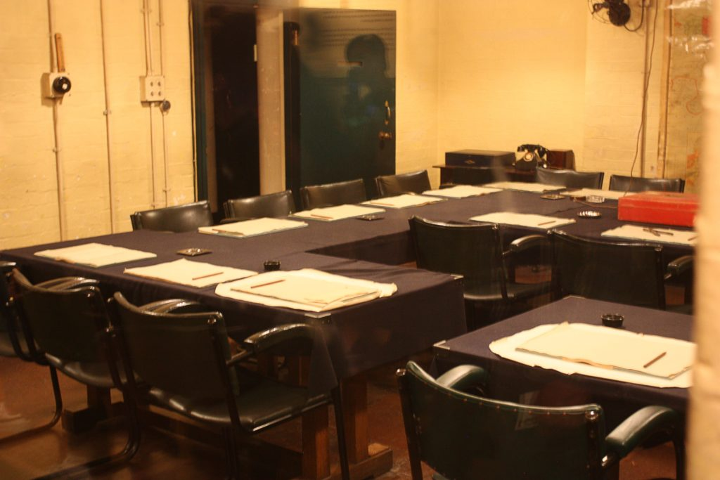 The war council room at the Churchill War Rooms