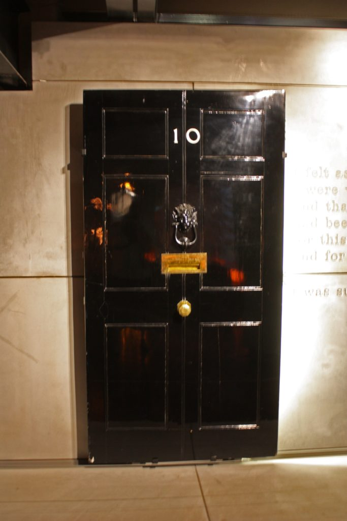The door to Churchill's number 10 Downing Street
