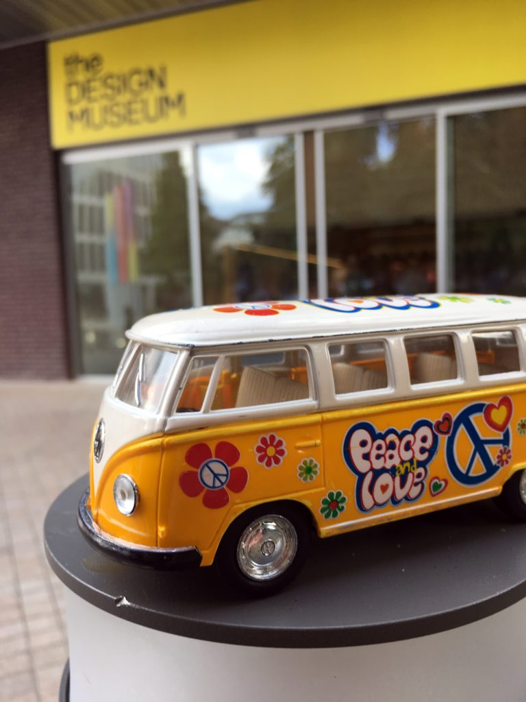 The yellow van at the Design Museum in London