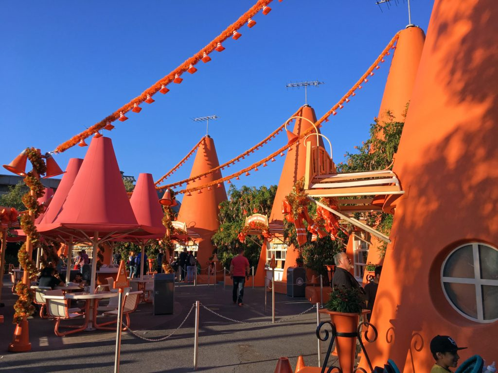 Shot of the Cozy Cone Motel in Cars Land