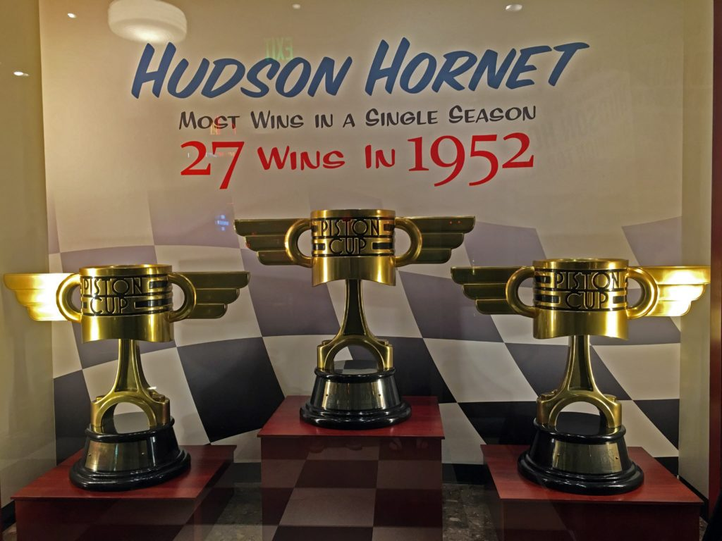Hudson Hornets Trophies in Cars Land
