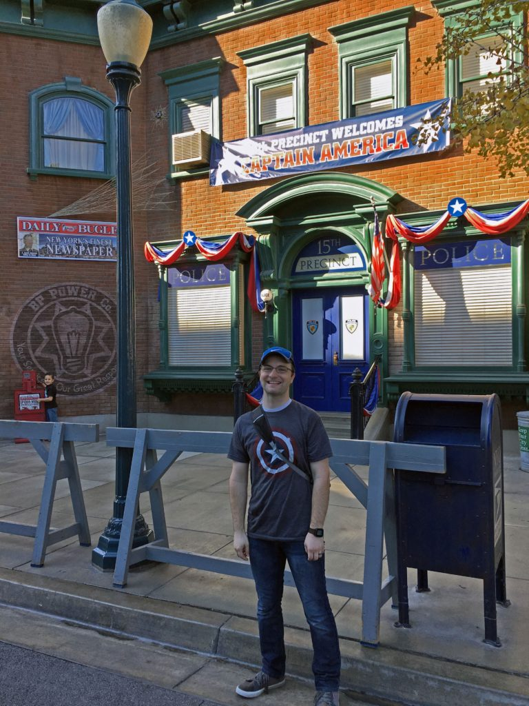 Ben at the Hollywood Land police station