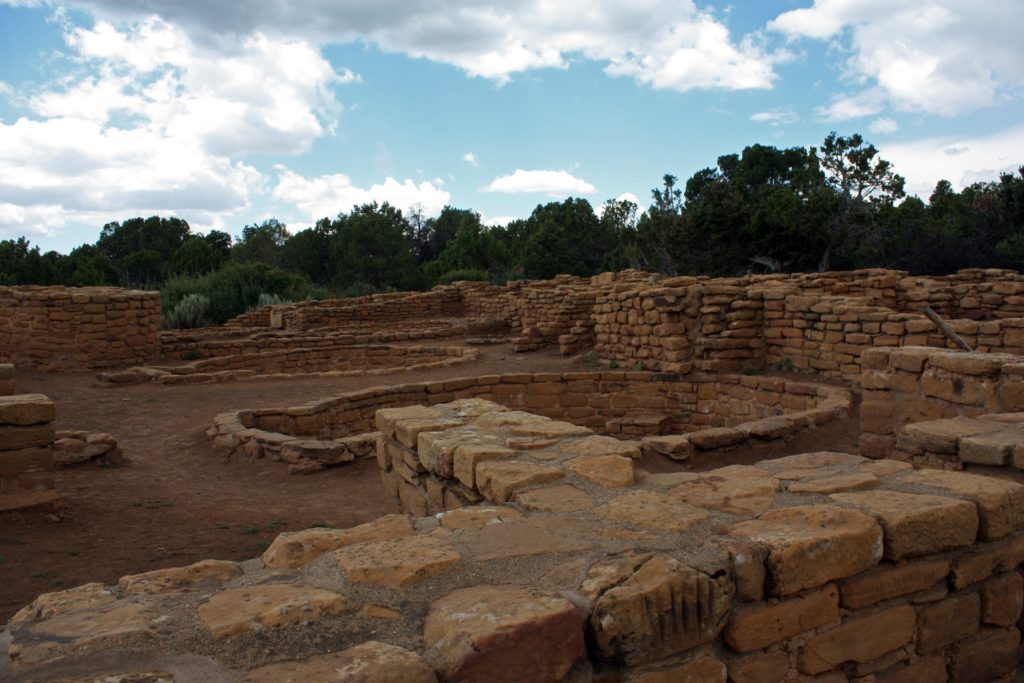 Surface dwelling ruins at Far View in Mesa Verde National Park