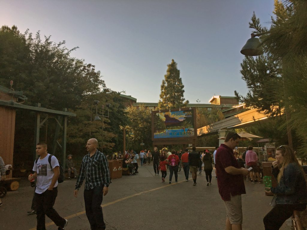 Entrance to the Grizzly Peak Airfield at California Adventure