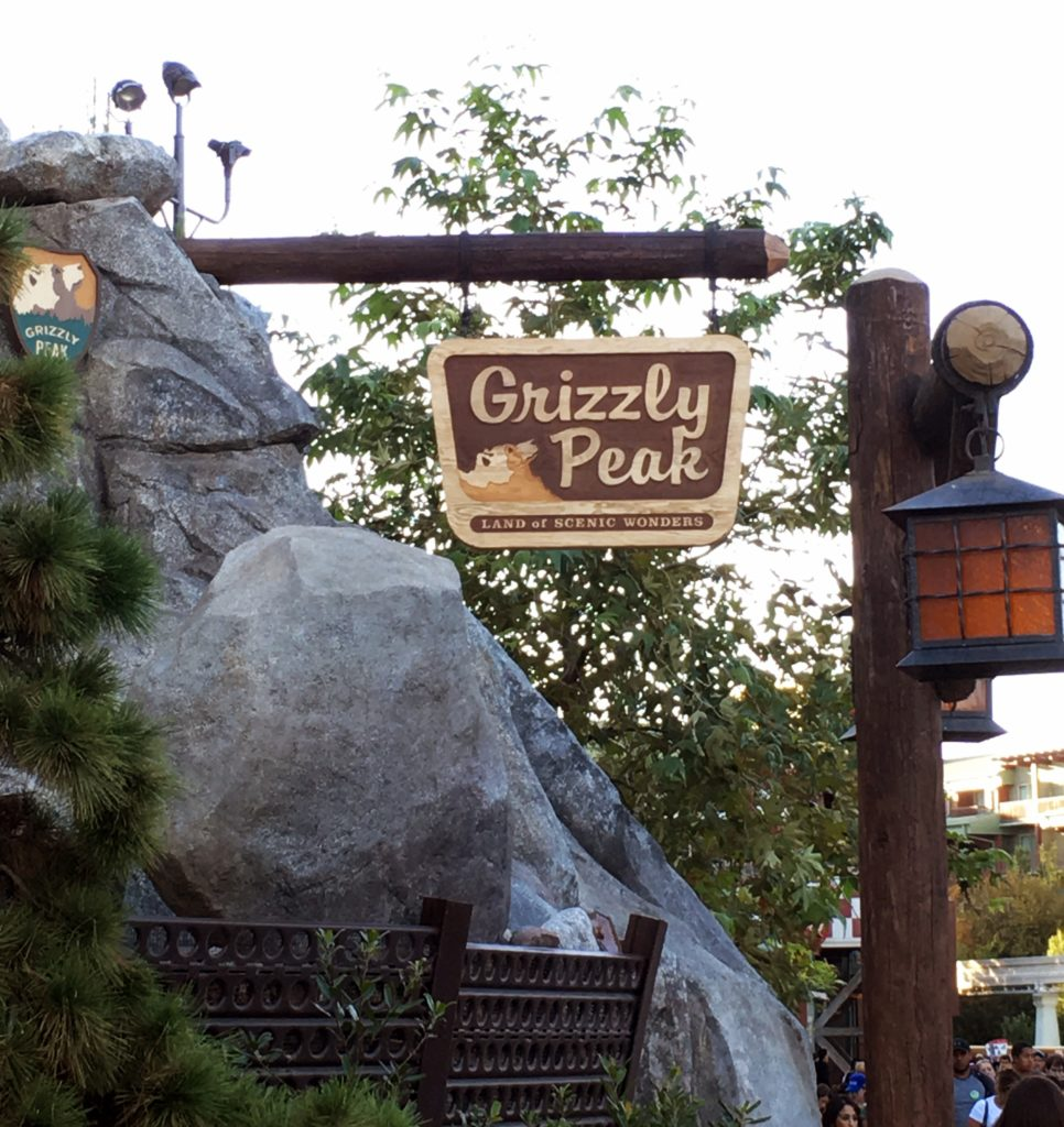 Sign showing Grizzly Peak
