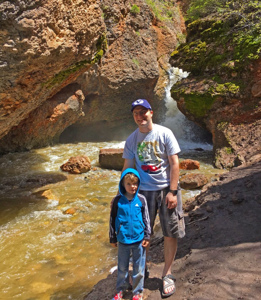 Ben and Nephew at Grotto Falls