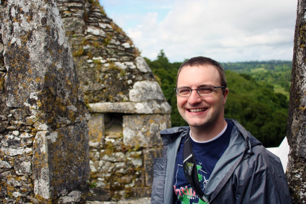 Ben at the top of Blarney Castle