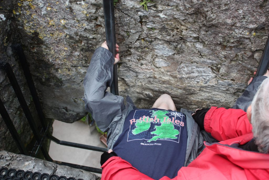 Ben kissing the Blarney Stone