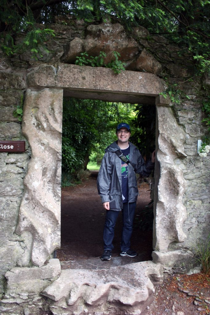Ben at the Rock Close of Blarney Castle