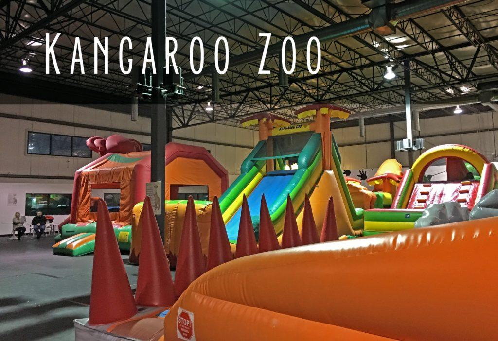 Title card showing the area of the kangaroo zoo