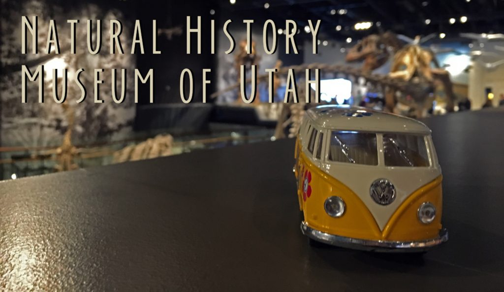 Natural History Museum of Utah Title card with yellow van