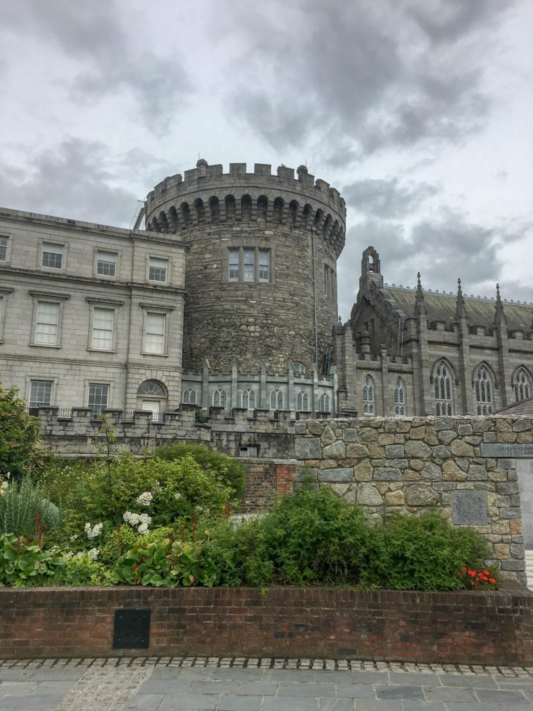 Dublin Castle from the gardens