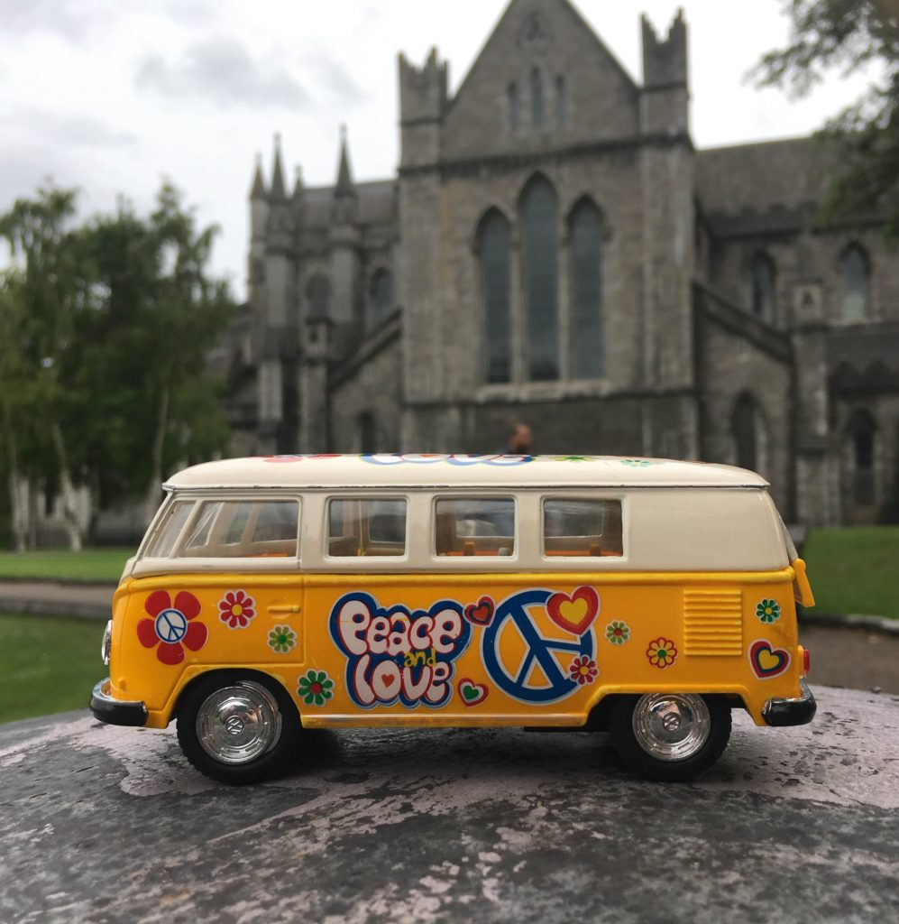 Van outside St. Patrick's Cathedral