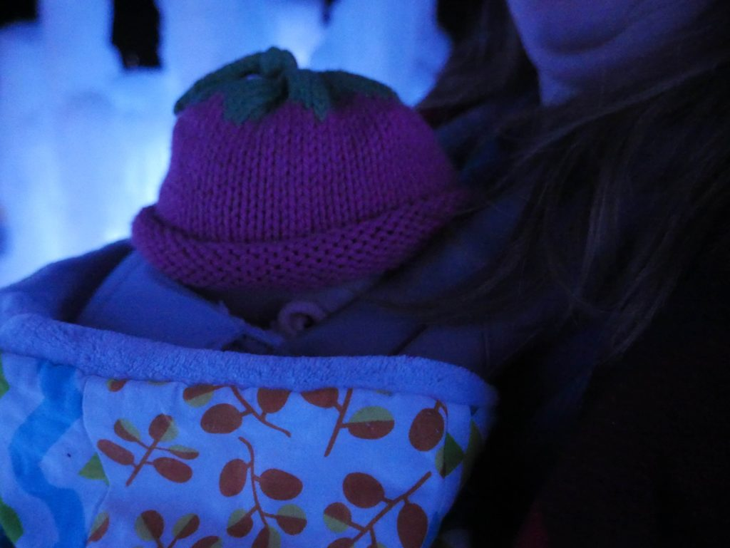 baby at ice castles
